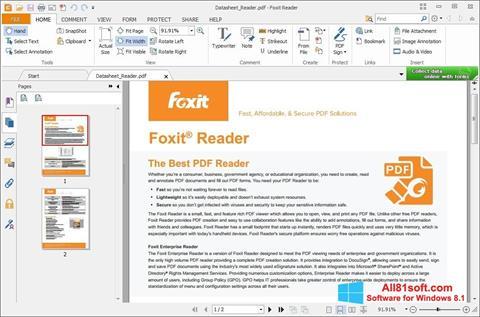স্ক্রিনশট Foxit Reader Windows 8.1
