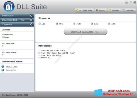 স্ক্রিনশট DLL Suite Windows 8.1