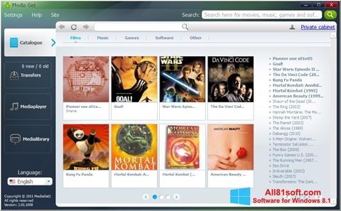 স্ক্রিনশট MediaGet Windows 8.1