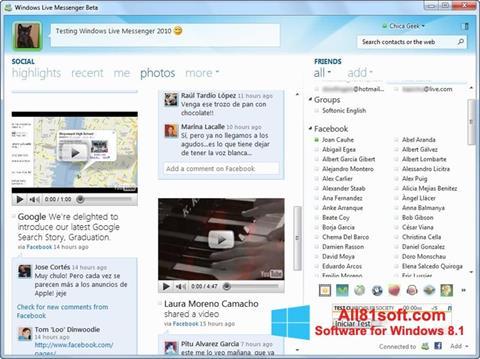 স্ক্রিনশট Windows Live Messenger Windows 8.1