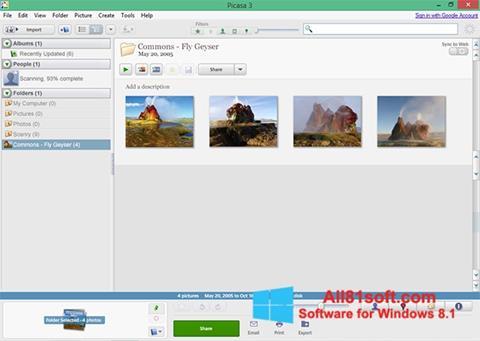 স্ক্রিনশট Picasa Windows 8.1
