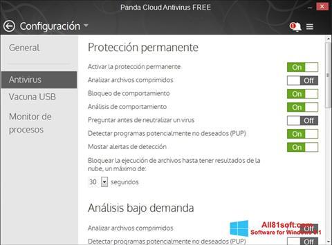 স্ক্রিনশট Panda Cloud Windows 8.1