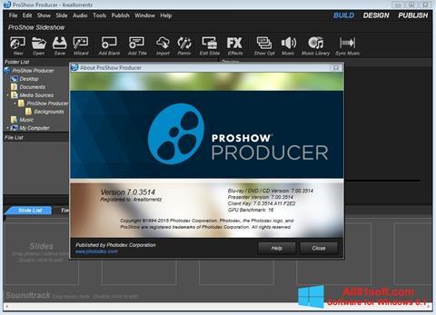 স্ক্রিনশট ProShow Producer Windows 8.1