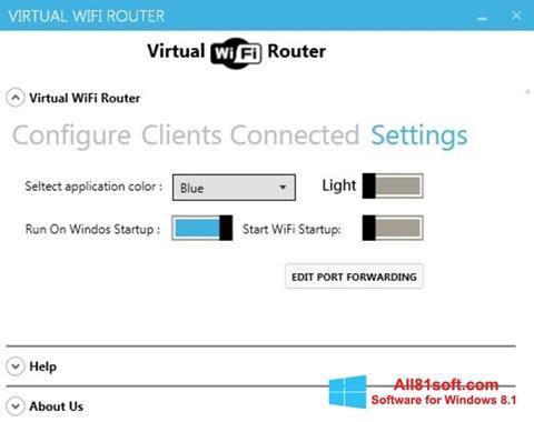 স্ক্রিনশট Virtual WiFi Router Windows 8.1