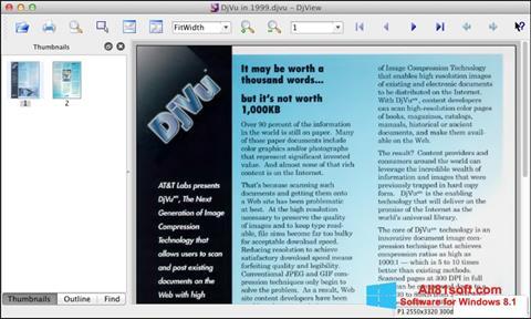 স্ক্রিনশট DjView Windows 8.1