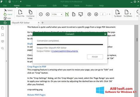 স্ক্রিনশট PDF Editor Windows 8.1