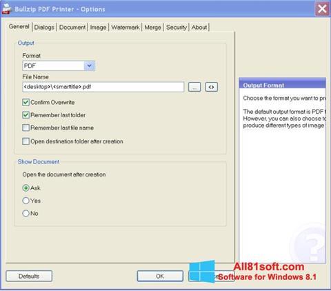 স্ক্রিনশট BullZip PDF Printer Windows 8.1