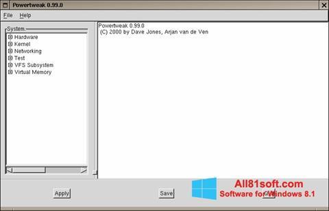 স্ক্রিনশট PowerTweak Windows 8.1