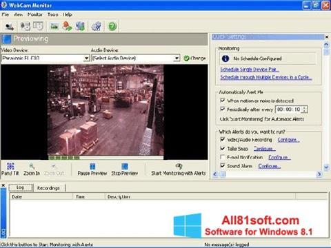 স্ক্রিনশট WebCam Monitor Windows 8.1