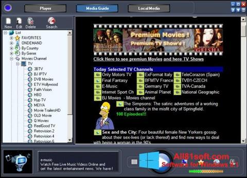 স্ক্রিনশট Online TV Live Windows 8.1