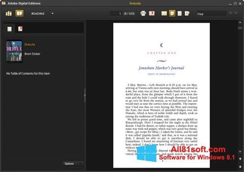 স্ক্রিনশট Adobe Digital Editions Windows 8.1