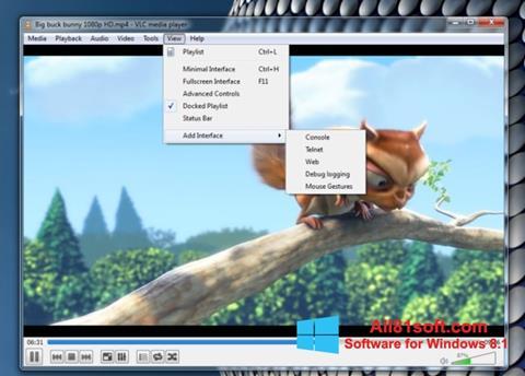 স্ক্রিনশট VLC Media Player Windows 8.1