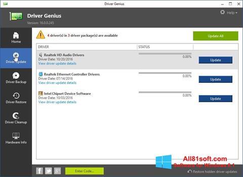 স্ক্রিনশট Driver Genius Windows 8.1