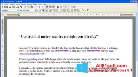 স্ক্রিনশট AbiWord Windows 8.1