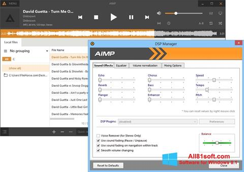 স্ক্রিনশট AIMP Windows 8.1