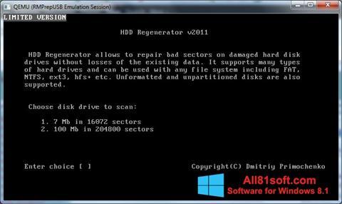 স্ক্রিনশট HDD Regenerator Windows 8.1