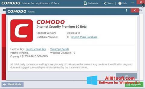 স্ক্রিনশট Comodo Windows 8.1
