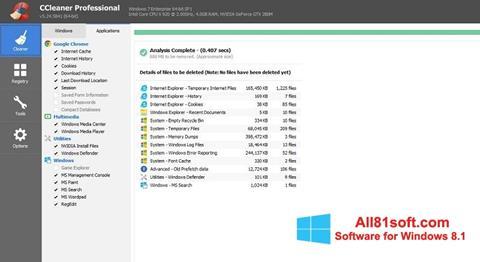 স্ক্রিনশট CCleaner Professional Plus Windows 8.1