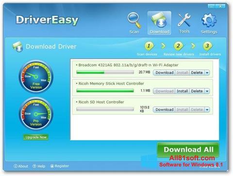 স্ক্রিনশট Driver Easy Windows 8.1