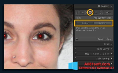 স্ক্রিনশট Red Eye Remover Windows 8.1