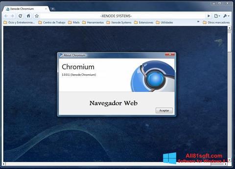 স্ক্রিনশট Chromium Windows 8.1