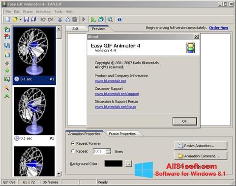 স্ক্রিনশট Easy GIF Animator Windows 8.1