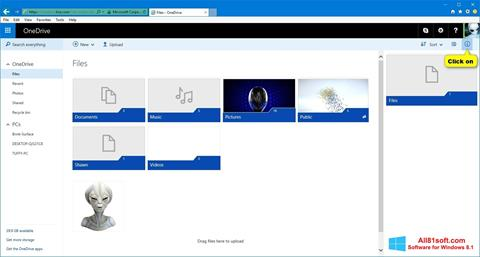 স্ক্রিনশট OneDrive Windows 8.1
