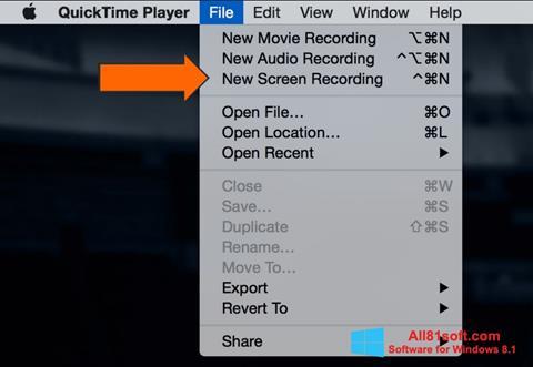 স্ক্রিনশট QuickTime Windows 8.1