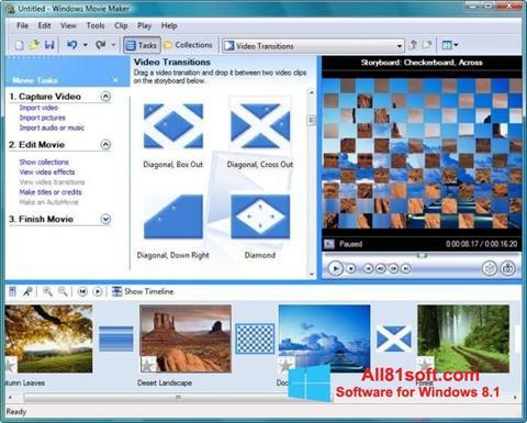 স্ক্রিনশট Windows Movie Maker Windows 8.1