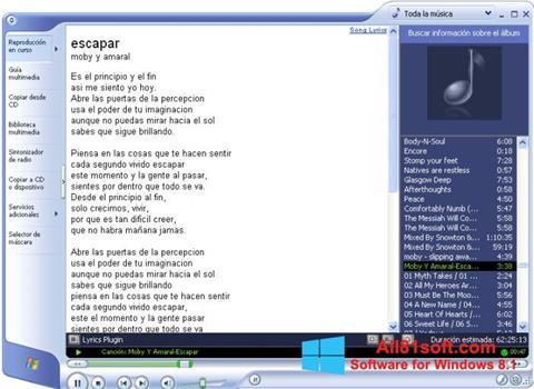 স্ক্রিনশট Windows Media Player Windows 8.1