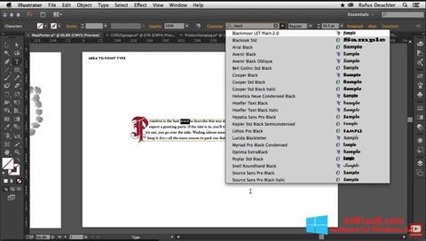 স্ক্রিনশট Adobe Illustrator Windows 8.1