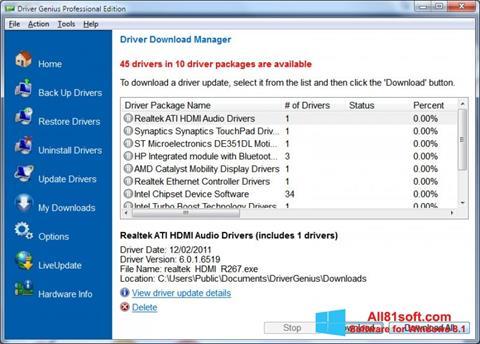 স্ক্রিনশট Driver Genius Professional Windows 8.1