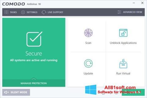 স্ক্রিনশট Comodo Antivirus Windows 8.1
