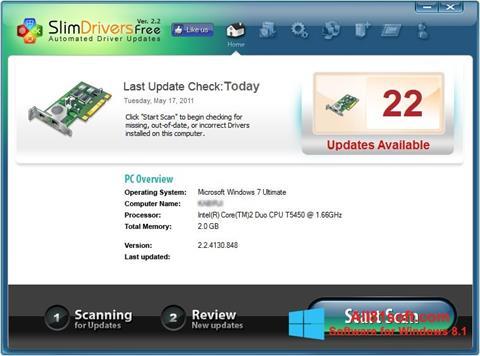 স্ক্রিনশট SlimDrivers Windows 8.1