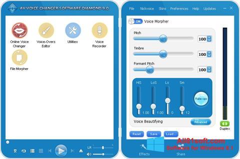 স্ক্রিনশট AV Voice Changer Diamond Windows 8.1