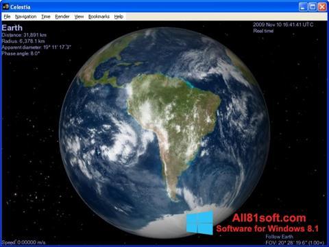 স্ক্রিনশট Celestia Windows 8.1