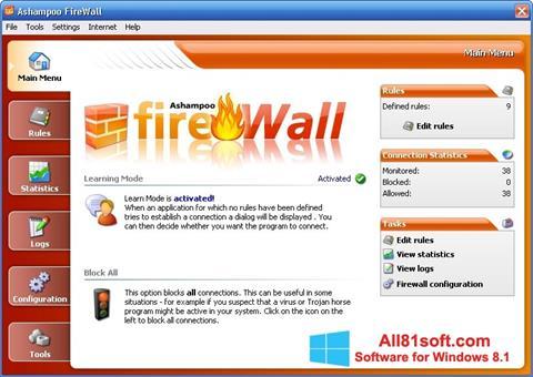 স্ক্রিনশট Ashampoo Firewall Windows 8.1
