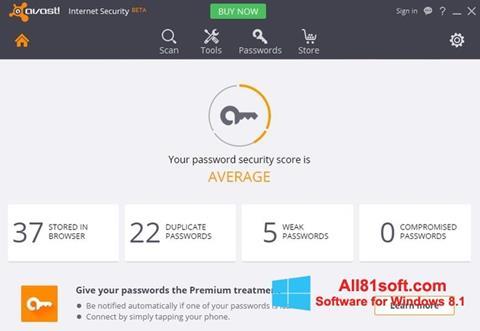 স্ক্রিনশট Avast Internet Security Windows 8.1