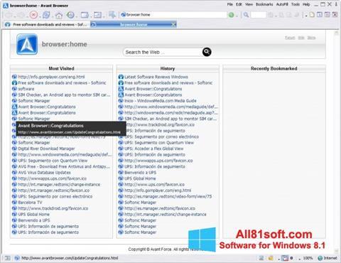 স্ক্রিনশট Avant Browser Windows 8.1