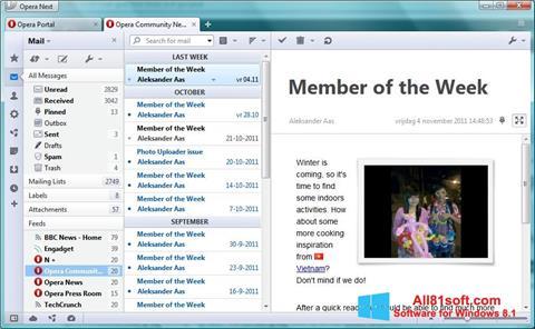 স্ক্রিনশট Opera Mail Windows 8.1