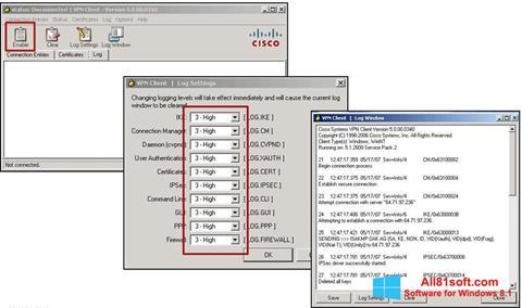 স্ক্রিনশট Cisco VPN Client Windows 8.1