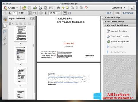 স্ক্রিনশট Adobe Acrobat Windows 8.1