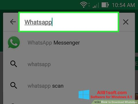 স্ক্রিনশট WhatsApp Windows 8.1