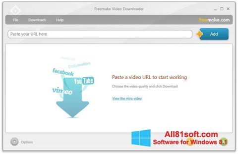 স্ক্রিনশট Freemake Video Downloader Windows 8.1