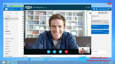 স্ক্রিনশট Skype Windows 8.1