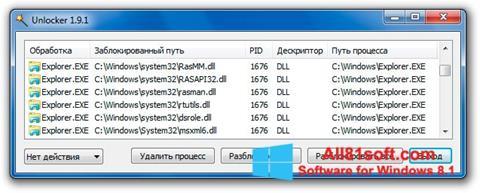স্ক্রিনশট Unlocker Windows 8.1