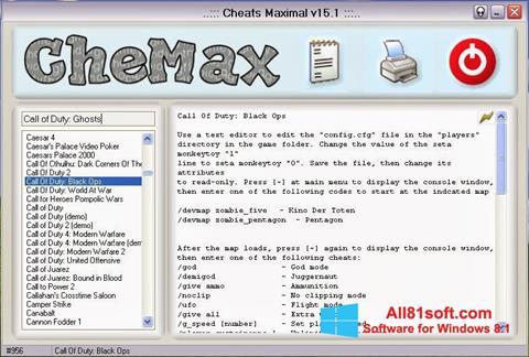স্ক্রিনশট CheMax Windows 8.1