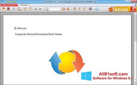 স্ক্রিনশট DocX Reader Windows 8.1
