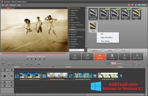 স্ক্রিনশট Movavi Video Editor Windows 8.1