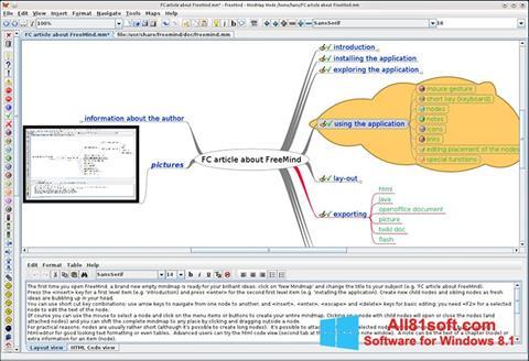 স্ক্রিনশট FreeMind Windows 8.1